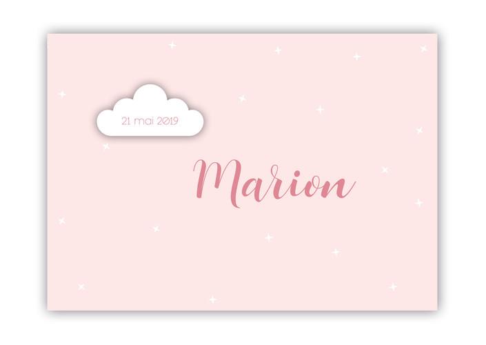 Annonce naissance Marion