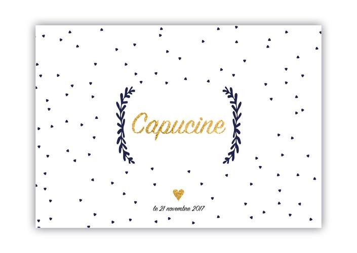 Annonce naissance Capucine