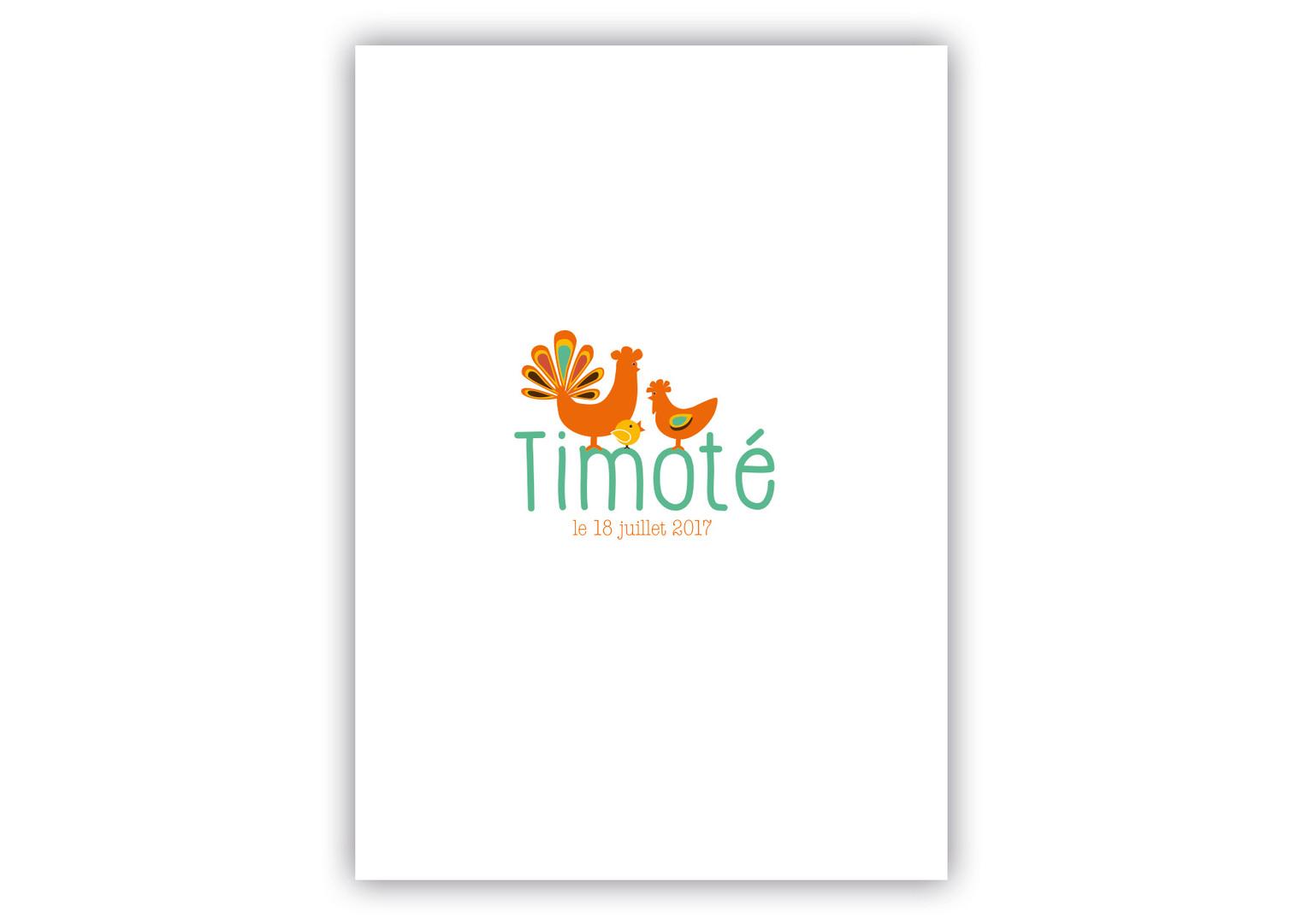 Annonce naissance Timoté