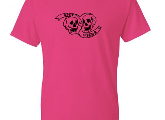 PREORDER: Hot pink T-shirt // Black Logo