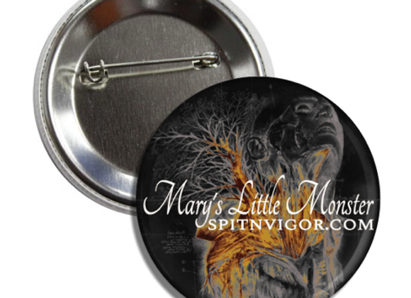 "1"" Button: Mary's Little Monster"