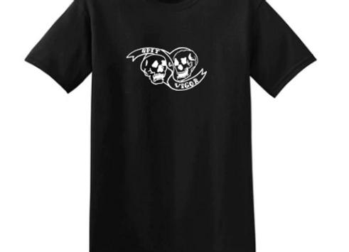 Black T-shirt // Classic White Logo