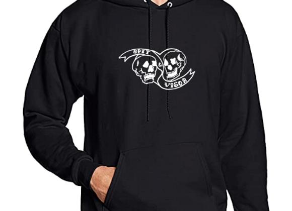 PREORDER: Black Sweatshirt // White s&v logo