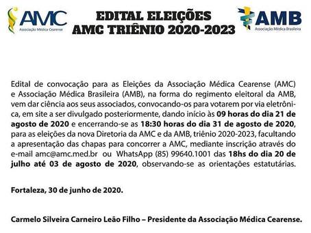 Edital das eleições, triênio 2020-2023