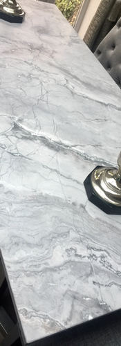 Marble & Brass Dining Table