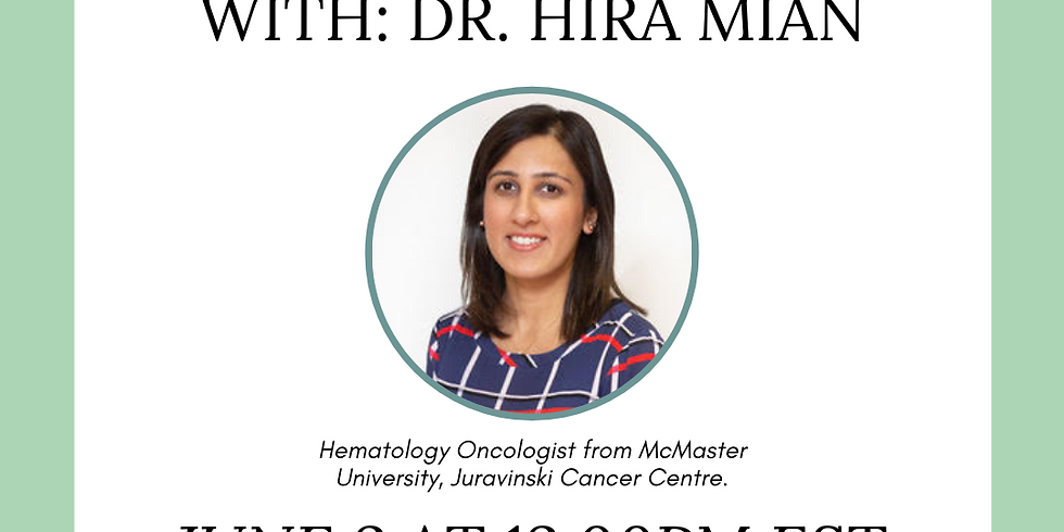 Waiting Room Revolution and Myeloma Canada presents: A sit down interview with Dr. Hira Mian