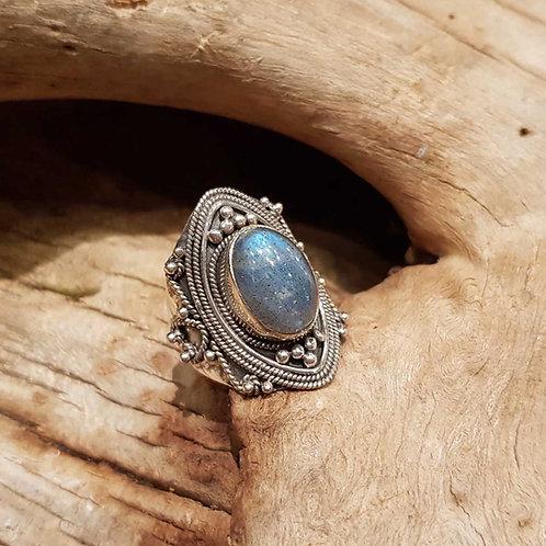 labradorite silver ring labradoriet ring zilveren sieraden amsterdam winkel