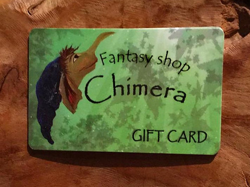 fantasy shop Chimera giftcard fantasyshop gift card cadeaukaart cadeaubon winkel amsterdam store shop