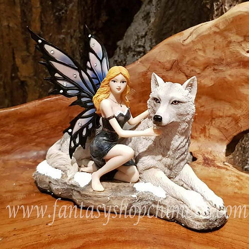 Loyal Friends Fairy with Wolf