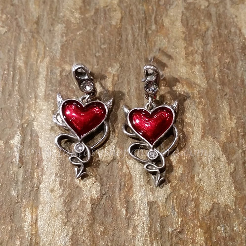 Devil's Heart earrings