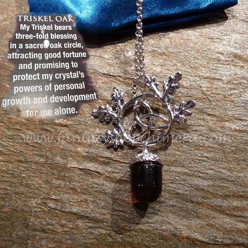 Triskel Oak Necklace