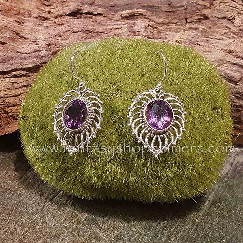 amethyst earrings silver amethist oorbellen zilver sieradenwinkel amsterdam jewelry shop jewellery