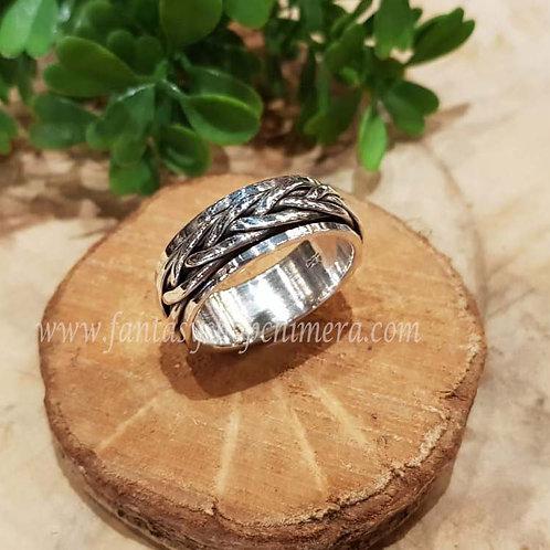 braided ring anti stress gevlochten silver zilver jewelry jewllery symbolische sieraden winkel fantasy shop amsterdam