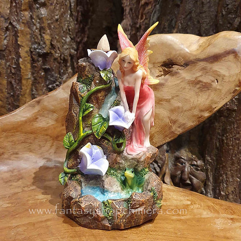 Steaming Lily Pond Waterfall Backflow Incense Holder