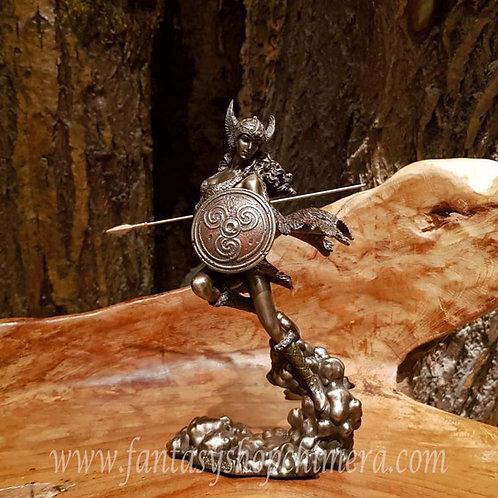 valkyrie walküre walkure mythology figurine viking lady warrior vrouwenbeeld noorse mythologie brons beelden kopen winkel