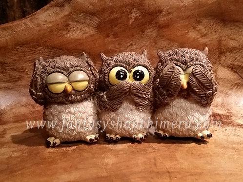 Owls hear no see no