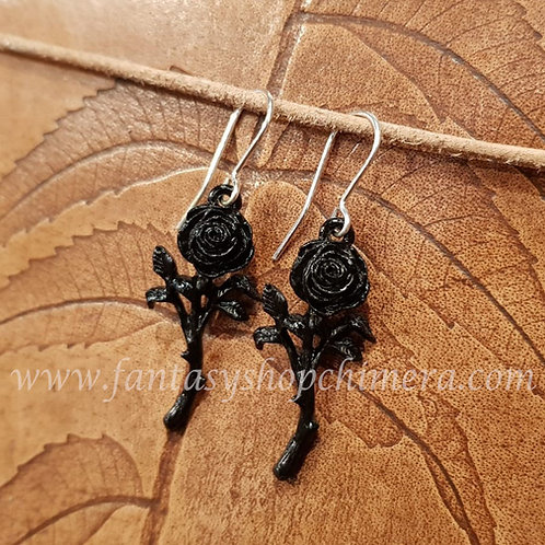 romance of the black rose earrings alchemy gothic jewelry jewellery sieraden oorbellen vleermuis winkel shop amsterdam