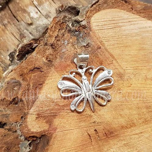 Shine butterfly silver pendant zilveren hangertje vlinder fantasy shop sieraden