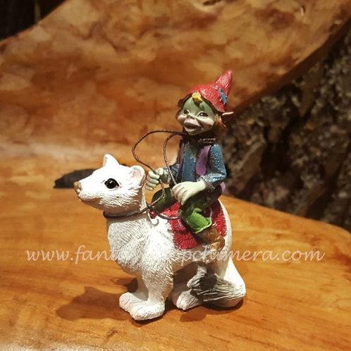 Pixie riding an ermine