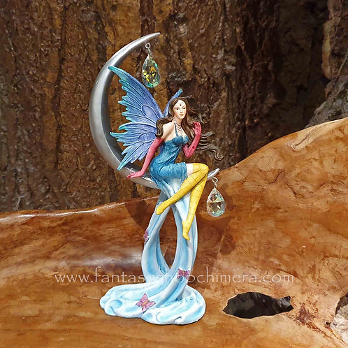 chrystal moon fairy figurine elf in maan fee beeldje sprookjes fantasy shop