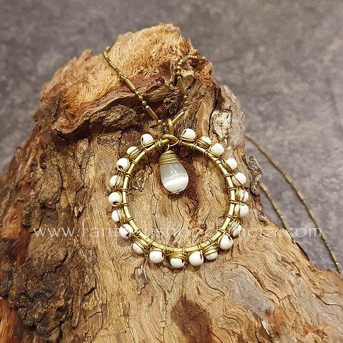 bohemian copper circle necklace koperen sieraden hanger ketting cirkel