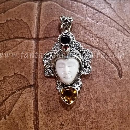 Silver Head pendant