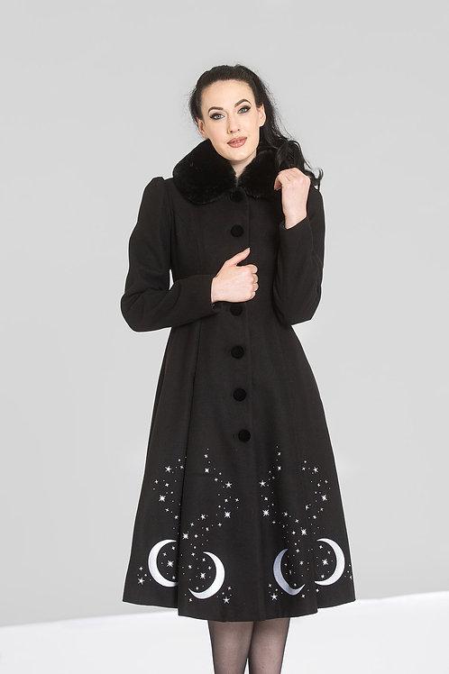 Luna star coat jas maan manen sterren winterjas hellbunny 50's style vintage look