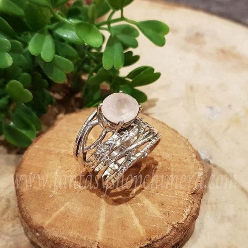 rose quartz rozekwarts ring zilver silver fantasy sieraden winkel jewellery shop amsterdam chimera