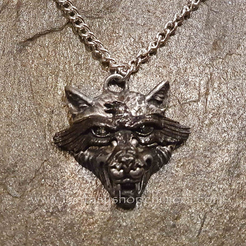 raven wolf alchemy wolf pendant necklace hanger wolf raaf ketting