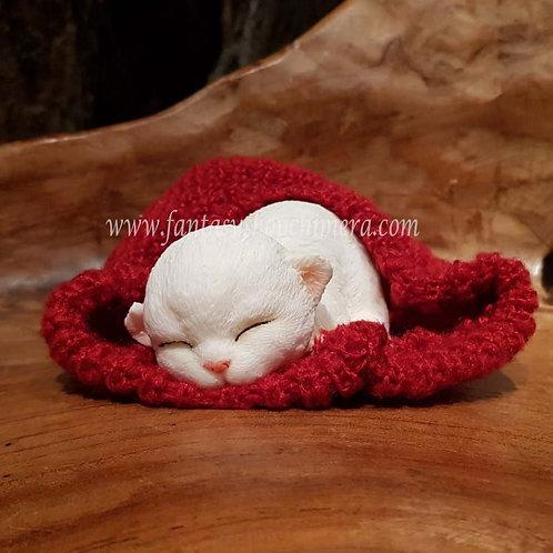 Luna kitten cat hat poesje beeldje slapend figurine katje muts cadeautjeswinkel fantasy store shop amsterdam