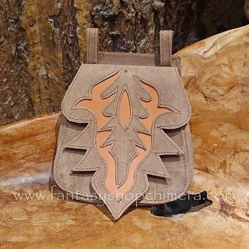 leather belt pouch buideltasje riem festival asseccoire tasje buideltje van leer