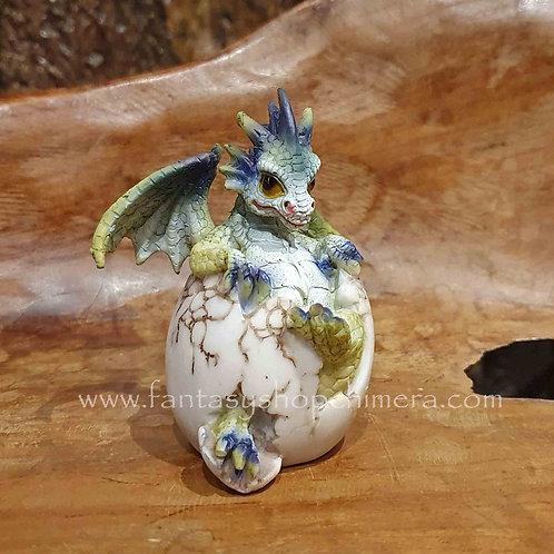 hatching dragon egg figurine baby drakenei uitkomen draakje in ei beeldje figurine paasdecoratie