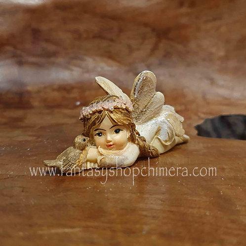 tiny fairy bird buy gift amsterdam fairies figurines klein elfje met vogeltje beeldje kopen elfenwinkel