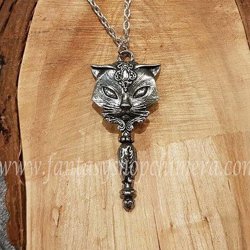 sacret cat hand mirror pendant kitten collier ketting miniatuur handspiegel kat poes alchemy