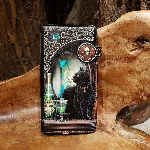 absinth purse wallet lisa parker cat fairy portemonnee portefeuille zwarte kat elfje