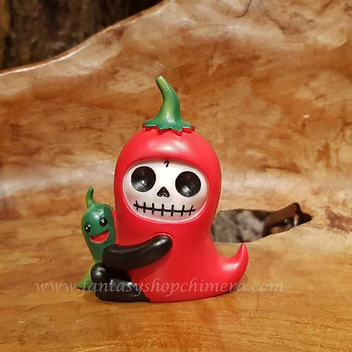 Chilito furrybones chili pepper misaki art voodoo doll puppet collectable furry bones fantasy shop chimera amsterdam