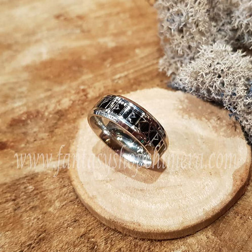 Black Rune ring