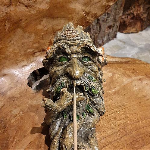 woody wierookhouder boom smoking tree green man incense holder fantasy art shop buy kopen