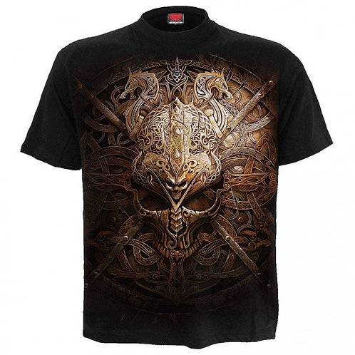 Viking shield t-shirt spiral fantasy alternative clothing alternatieve kleding amsterdam