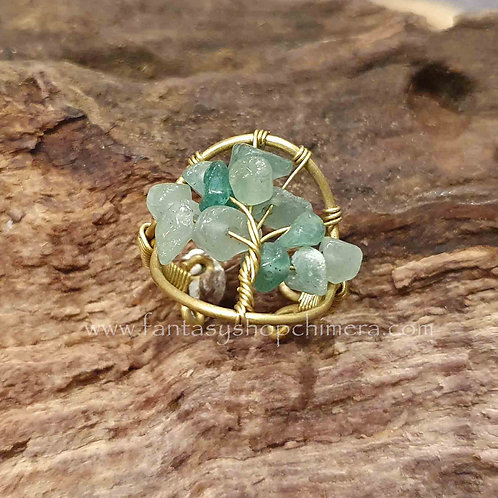 tree of life gemstones green ring levensboom ring groene steentjes agaat