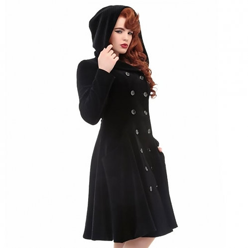 Heather Quilted Coat Black