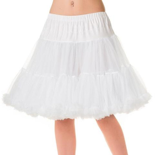 Witte Banned 50s Walkabout Petticoat Short White 50's style stijl onderrok rock hillbilly vintage