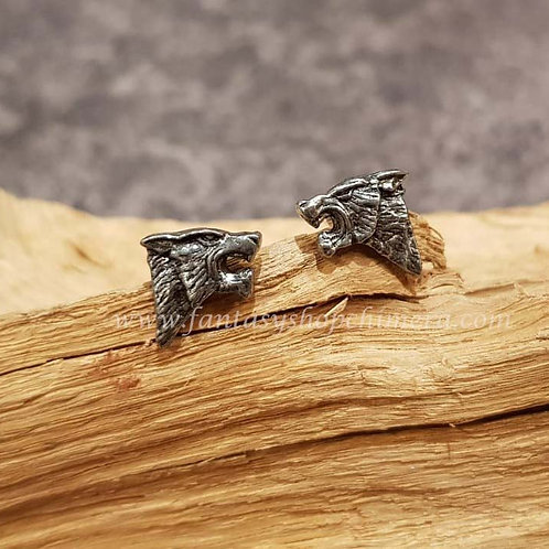 dark wolf ear studs rings wolven oorstekers alchemy jewelry jewellery sieraden amsterdam