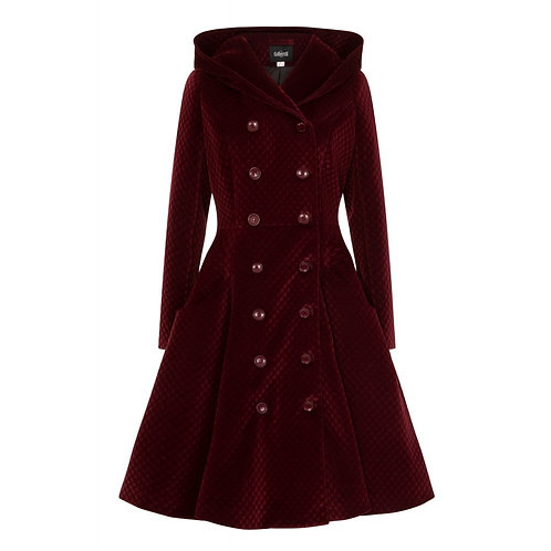 Wine Heather Quilted Coat