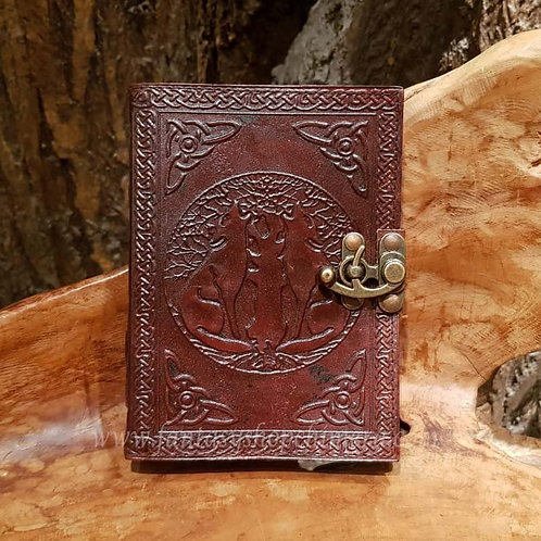 Howling Wolves Leather Journal