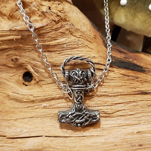 Thor's hammer dagger necklace viking mythology thor's hamer dolk ketting mythologie keltisch