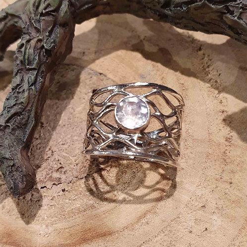 aquamarine aquamarijn steen silver ring zilveren zilver sieraden blauwe steen