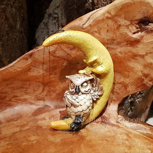 owl moon figurine hanging uiltje maan hangend figuurtje beeldje