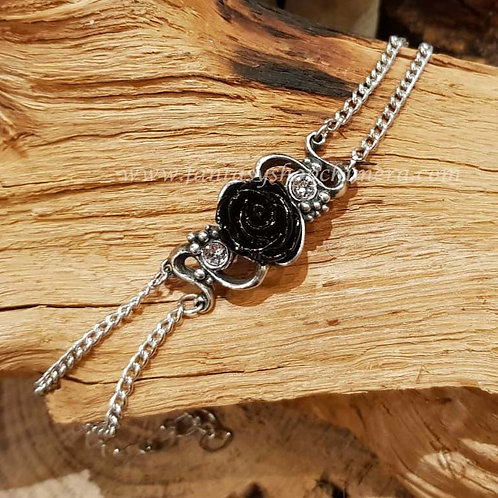 bacchanal bracelet black rose zwarte roos armband sieraad jewellery alchemy