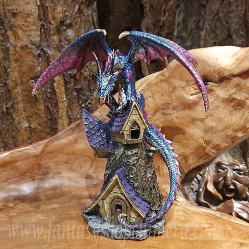 defender dragon on roof house draak op dak huis drakenbeeldjes kopen drakenwinkel amsterdam fantasy shop